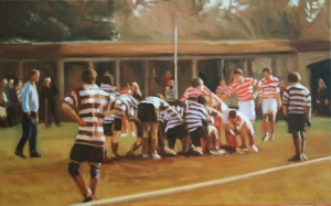 Winchester Football painting